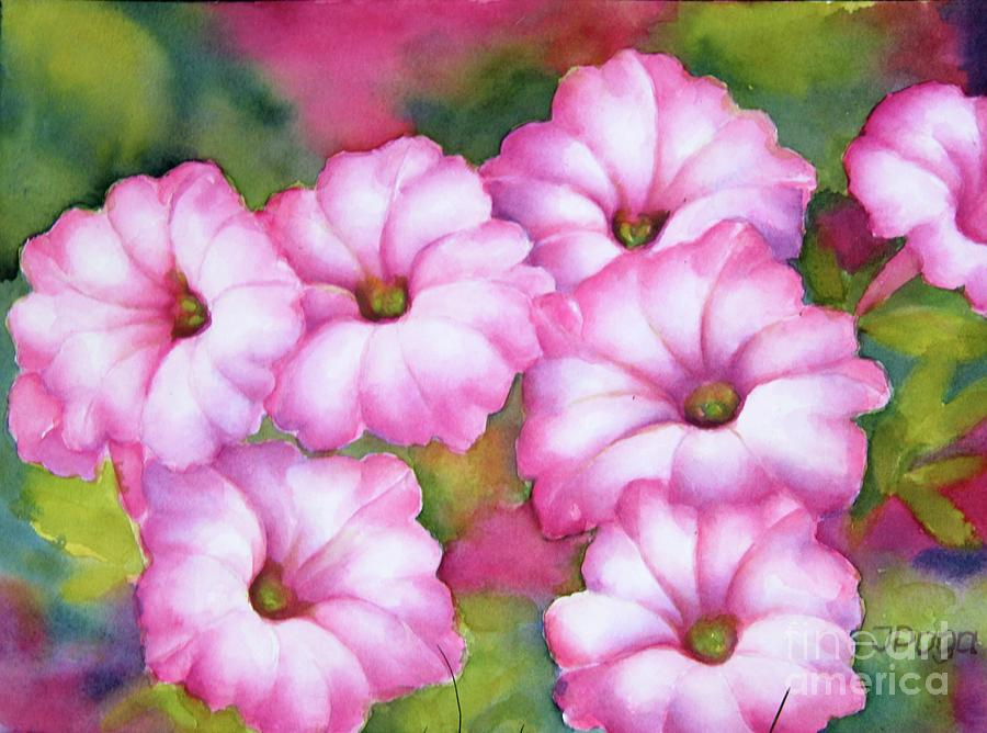 Pink petunias by Inese Poga