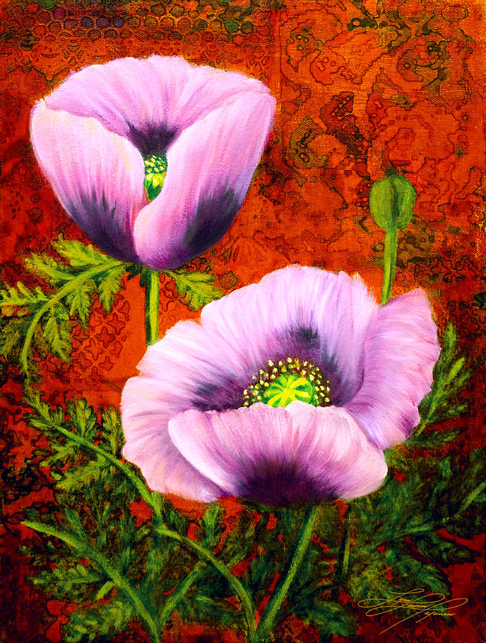 Flower Painting - Pink Poppies by Lynn Lawson Pajunen