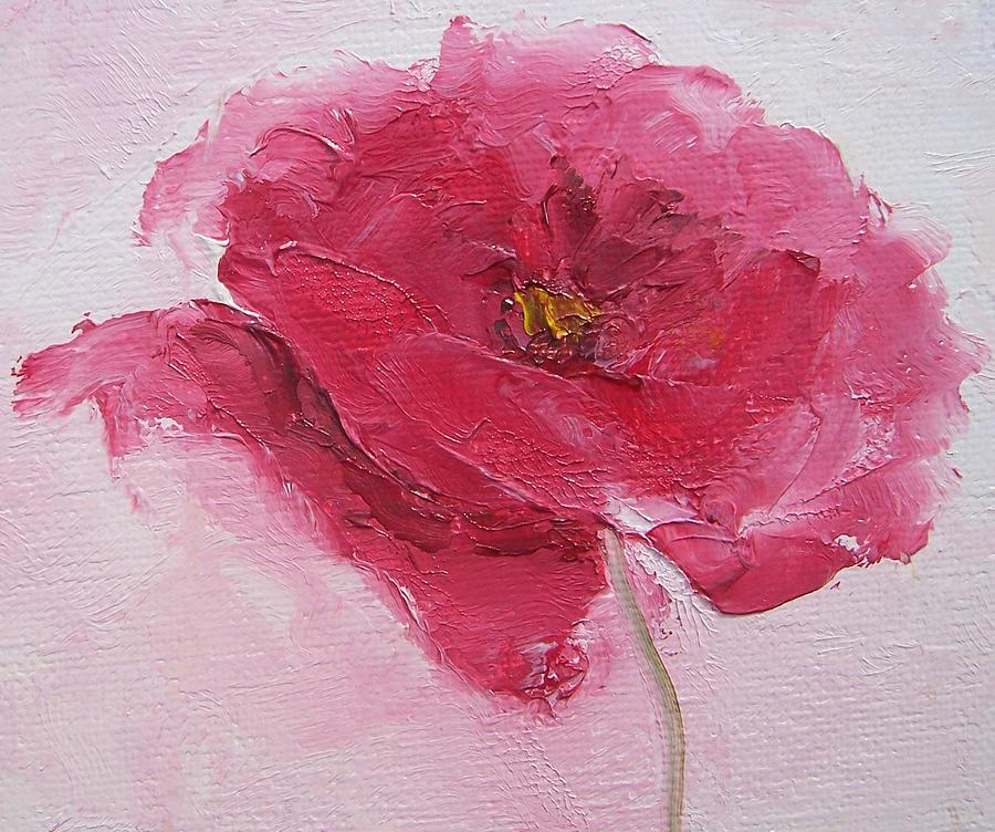 Poppies Painting - Pink Poppy by Jan Matson