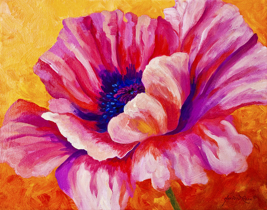 Poppies Painting - Pink Poppy by Marion Rose