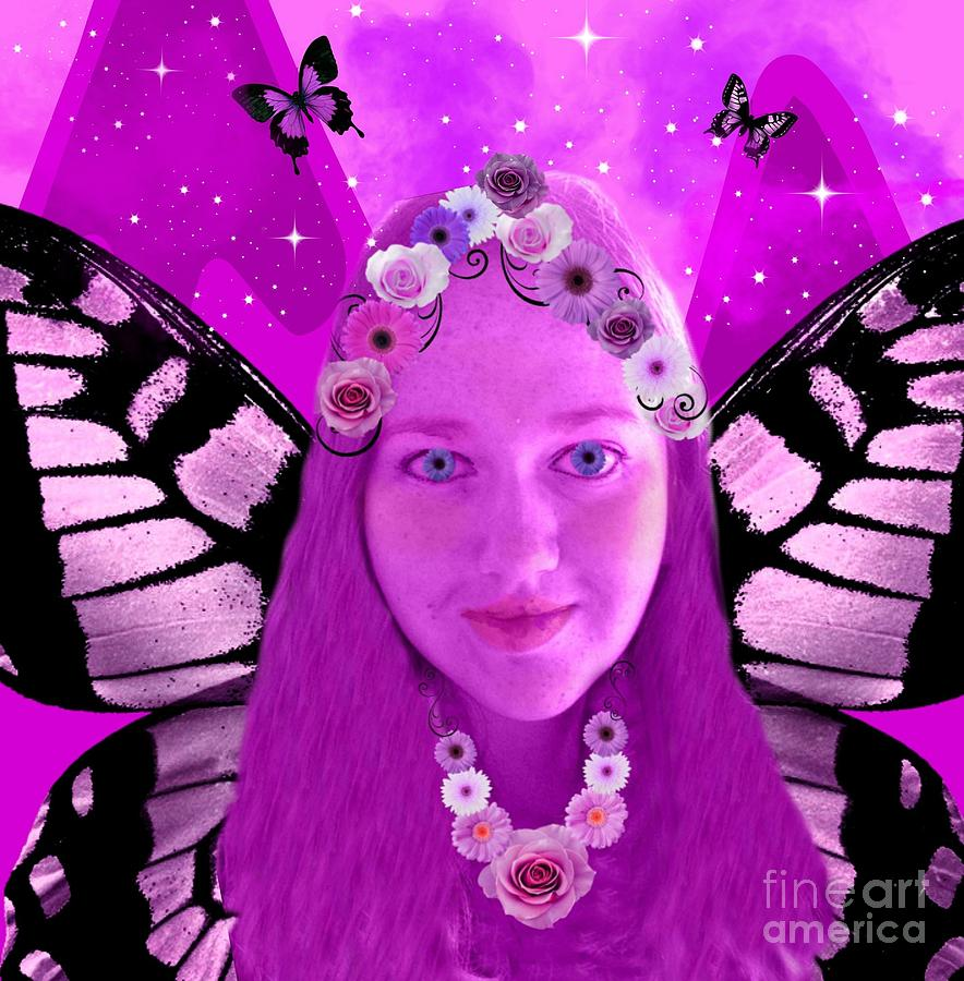 Pink Digital Art - Pink Promises by Diamante Lavendar