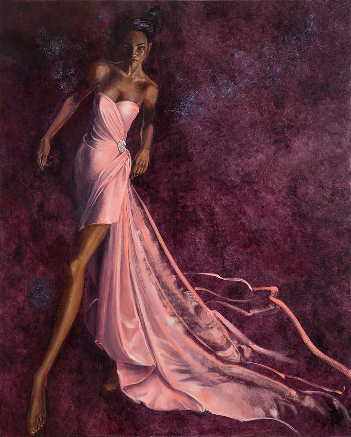 Fashion Illustration Painting - Pink Prowl by Barbara Tyler Ahlfield