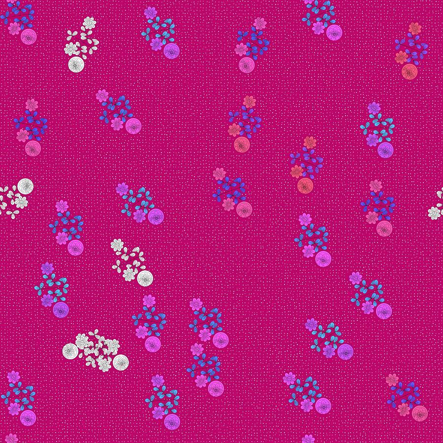 Pink purple white flowers  by Lenka Rottova