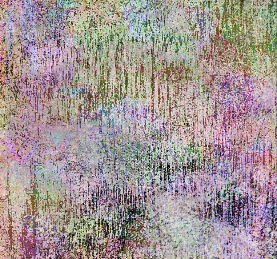 Abstract Digital Art - Pink Rain by Lea Cox