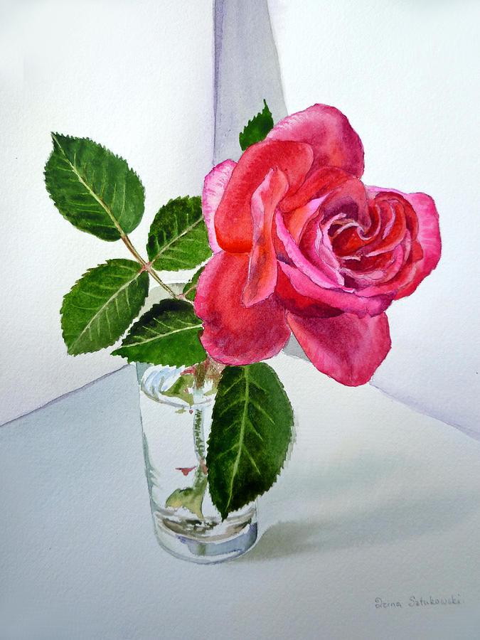 Rose Painting - Pink Rose by Irina Sztukowski