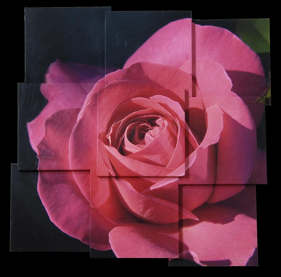 Rose Sculpture - Pink Rose Photo Sculpture by Michael Bessler