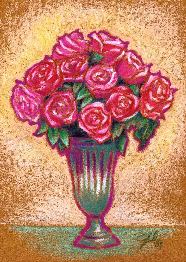 Roses Drawing - Pink Roses by Jennifer Bonset