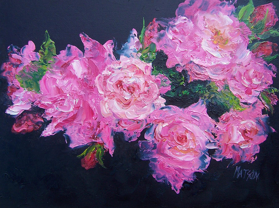 Pink roses oil painting painting by jan matson roses painting pink roses oil painting by jan matson mightylinksfo