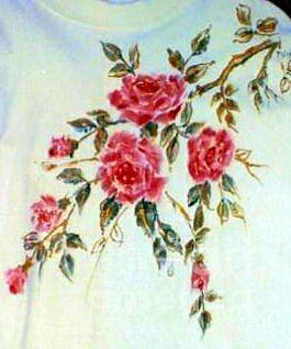 Pink Roses Painting by Patricia Ducher