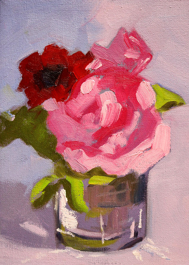 Pink roses still life painting 2 painting by nancy merkle pink roses painting pink roses still life painting 2 by nancy merkle mightylinksfo