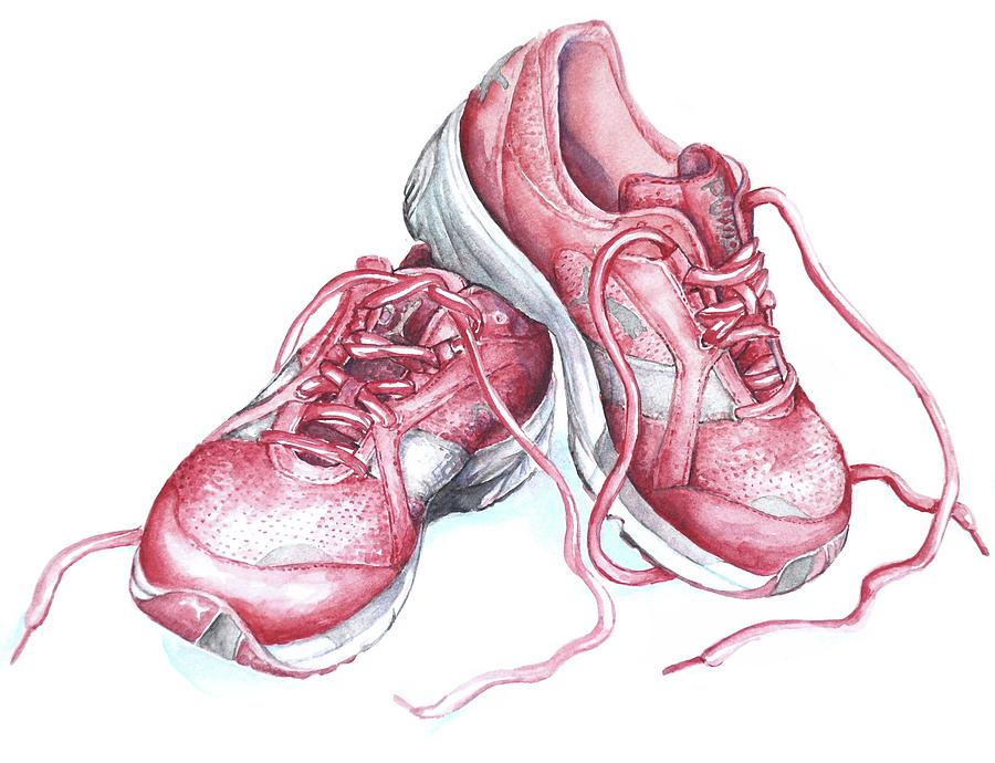 By Shoes Painting Kriel Running Heidi Pink VpUzMSq