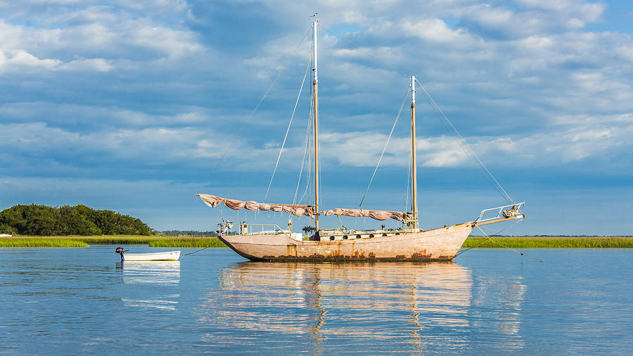 The Face Of God Photograph - Pink Sailboat 3 by Paula Porterfield-Izzo