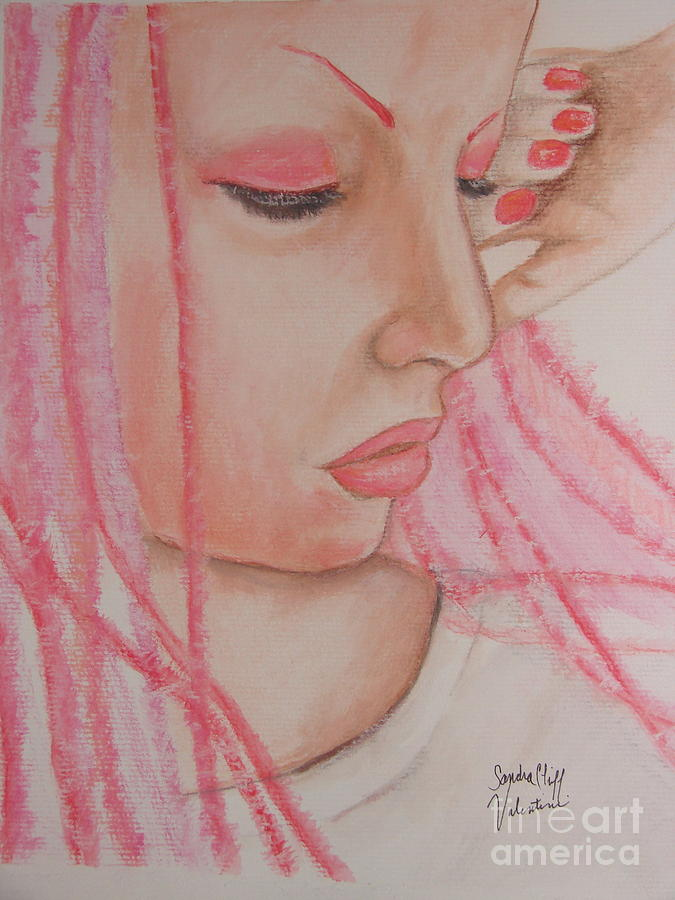 Watercolor Portrait Pastel - Pink by Sandra Valentini