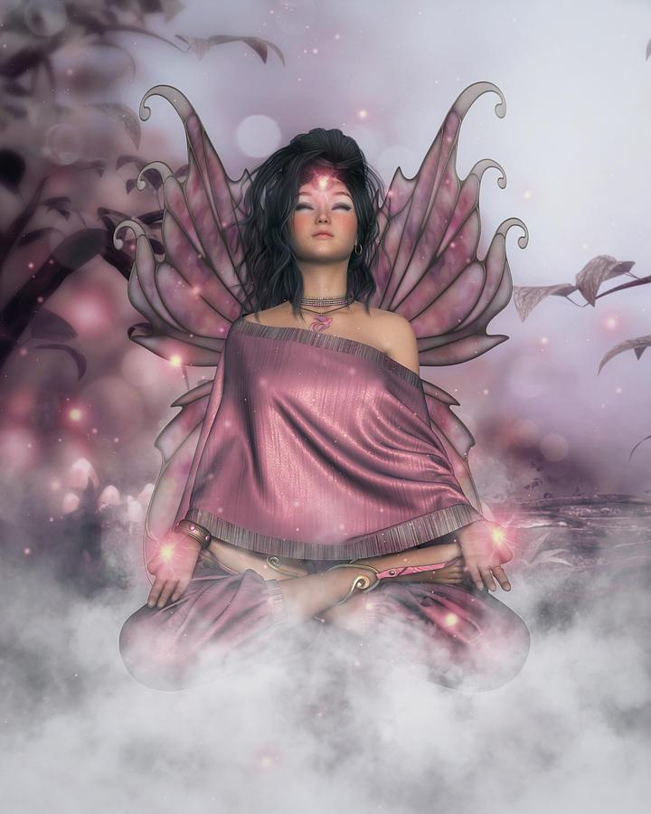 Pink Digital Art - Pink Serenity by Rachel Dudley