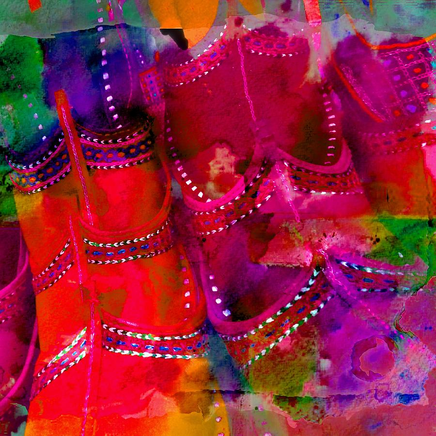 ac837ad9a5f6 Pink Shoes Shopping Is Fun Colorful Square Abstract 4b Photograph ...