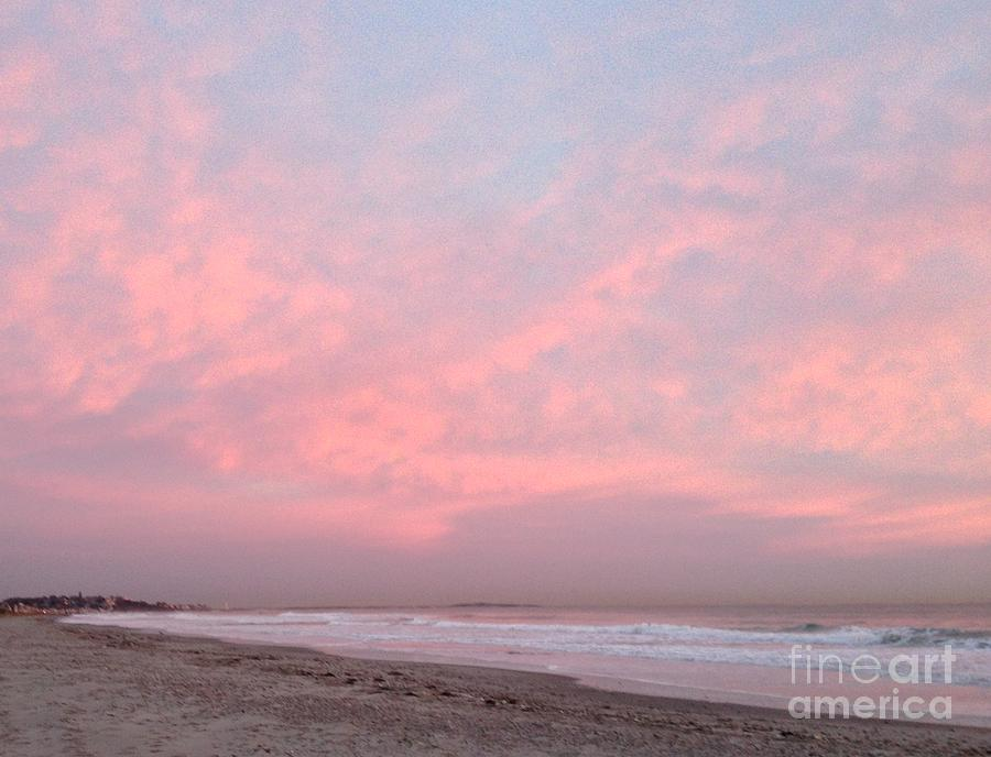 Nantasket Beach Photograph - Pink Sky Over Allerton Hill November 9 2016 by Janice Reed Messier