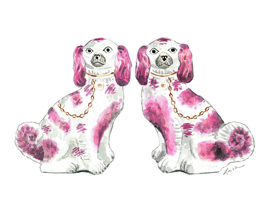 staffordshire dogs porcelain