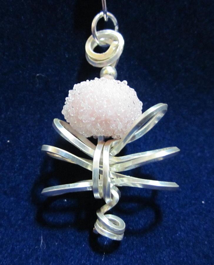 Lampwork Bead Jewelry - Pink Sugar Bead by Janet Telander