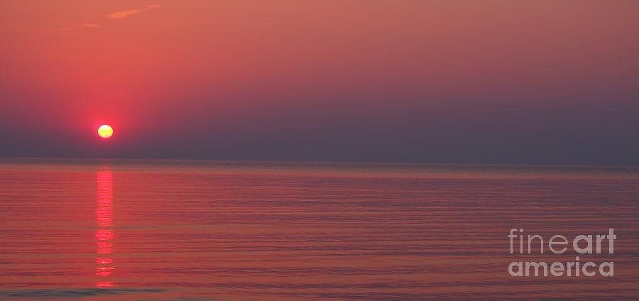 Indiana Photograph - Pink Sun by Sarah  Mitcheltree