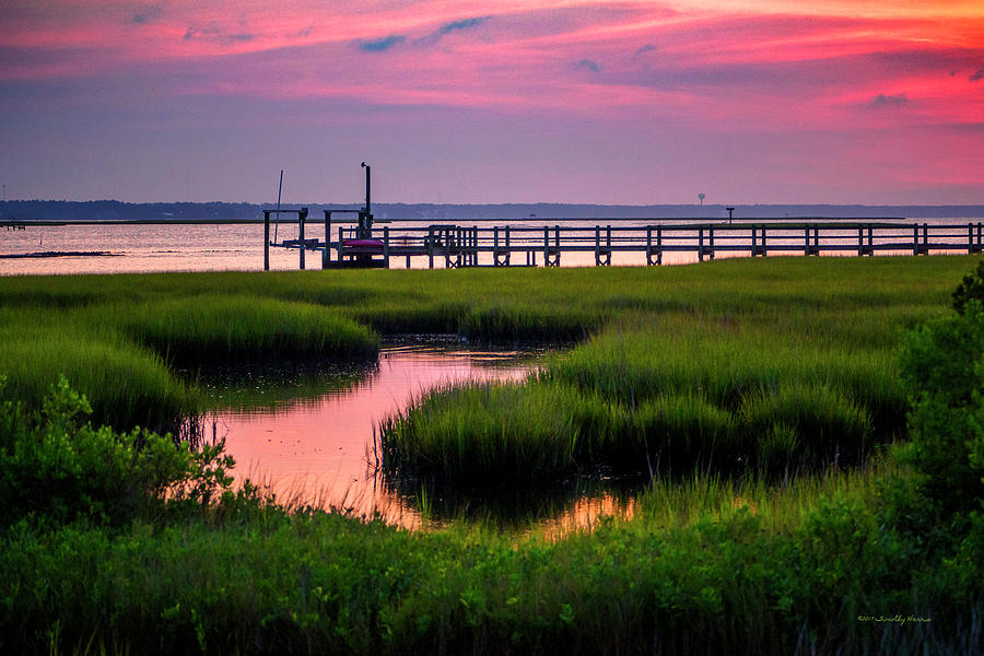 Pink Sunrise at Bogue Sound by Timothy Harris