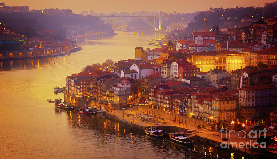 Pink Sunset In Porto Photograph