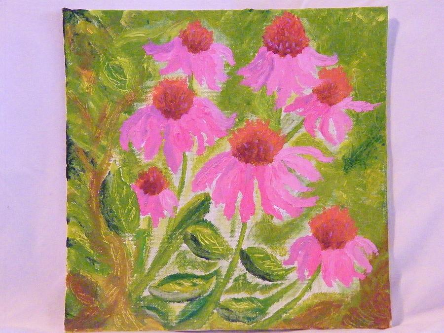 Flowers Painting - Pink Sunshine by Margaret G Calenda