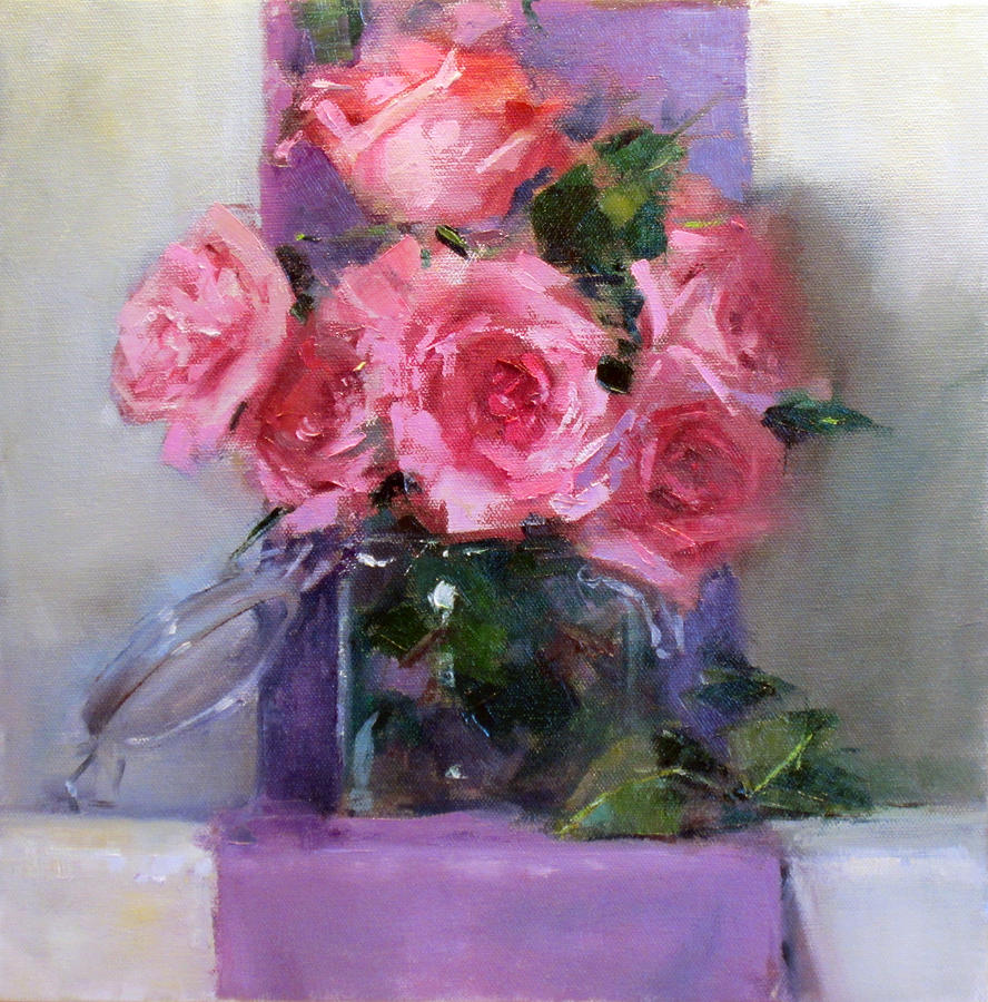 Canvas Prints Painting - Pink Tease by Chris  Saper