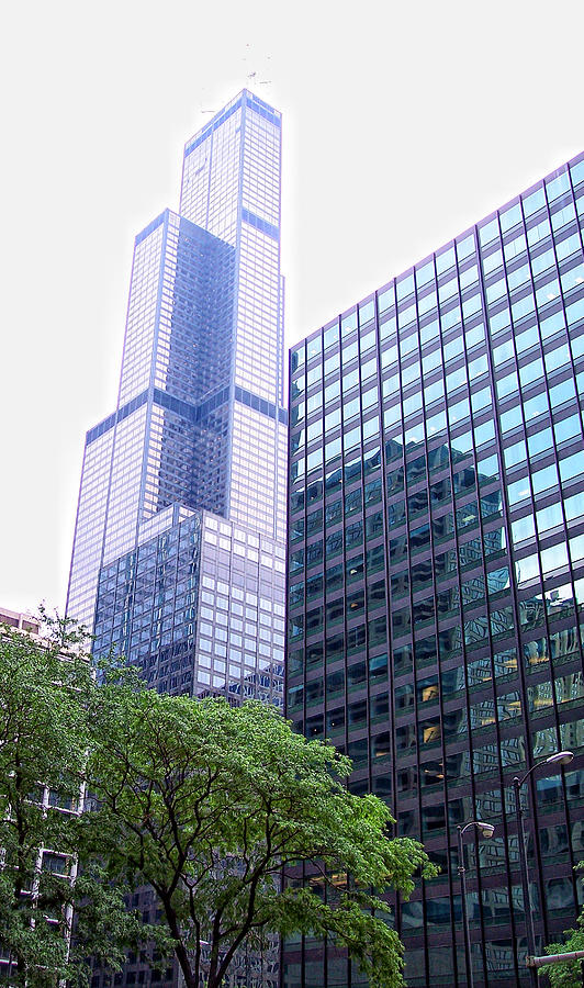 Chicago Photograph - Pink Tower by Donna Blackhall