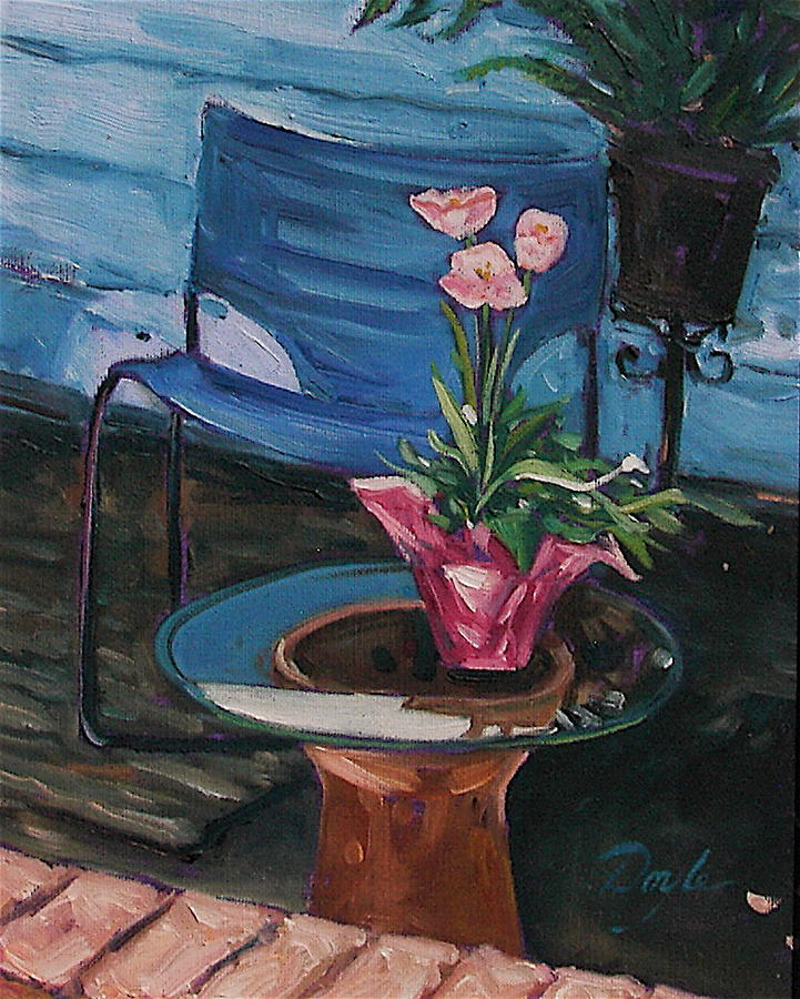 Tulips Painting - Pink Tulips by Karen Doyle