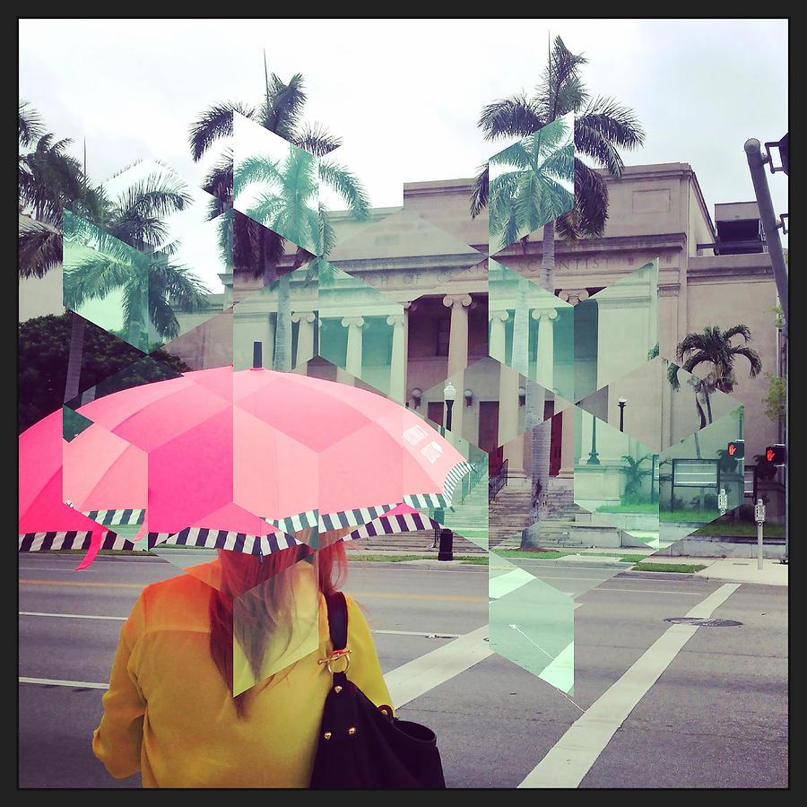 Iphoneography Photograph - Pink Umbrella by Gilberto Salazar