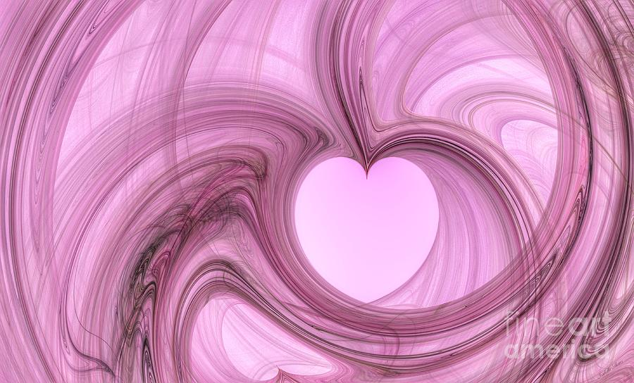 Swirl Digital Art - Pink Valentine by Isabella Shores