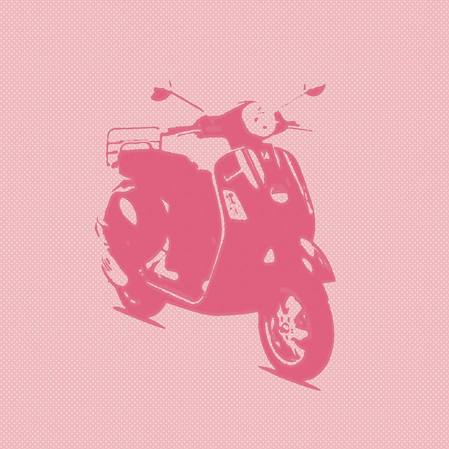 Pink Photograph - Pink Vespa by Denis Bouchard