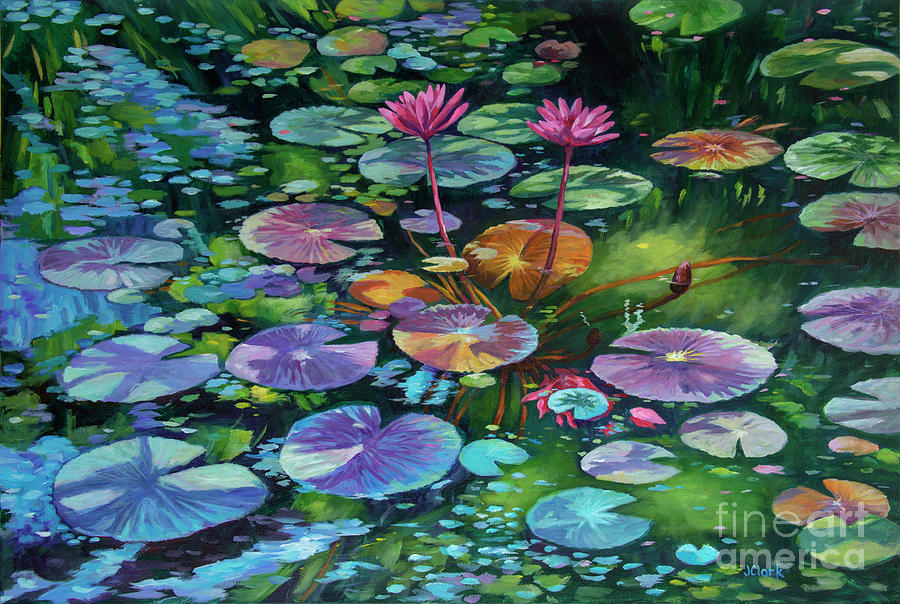Acrylic Paintings Lilly Pads And