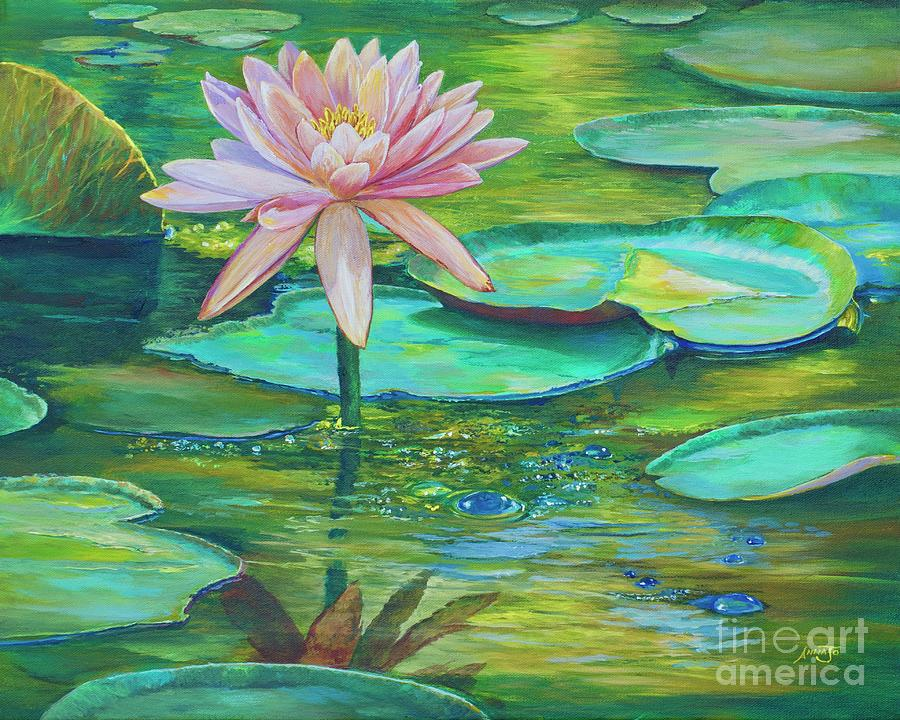 Pink Water Lily by AnnaJo Vahle
