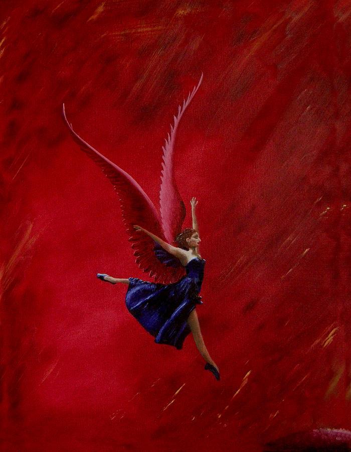 Svetlana Zakarova Painting - Pink Winged Farie by Ivan Rijhoff