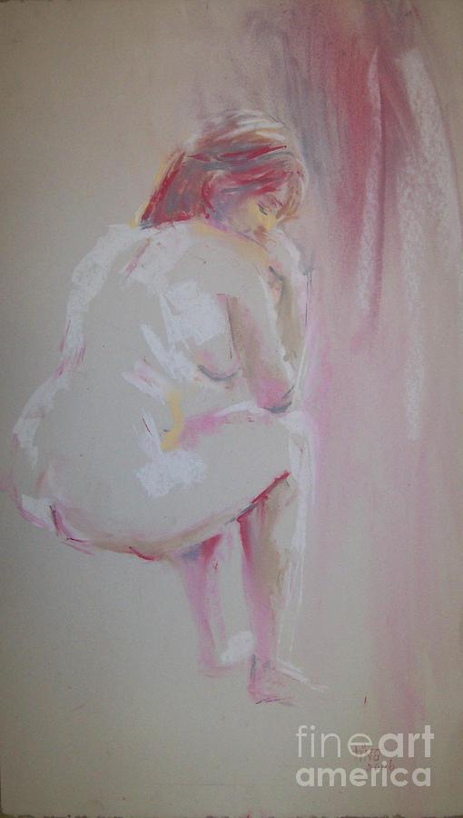 Figurative Painting - Pinks by Tina Siddiqui