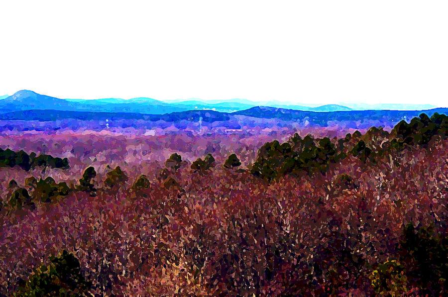 Pinnacle Digital Art - Pinnacle Valley by Tom Herrin
