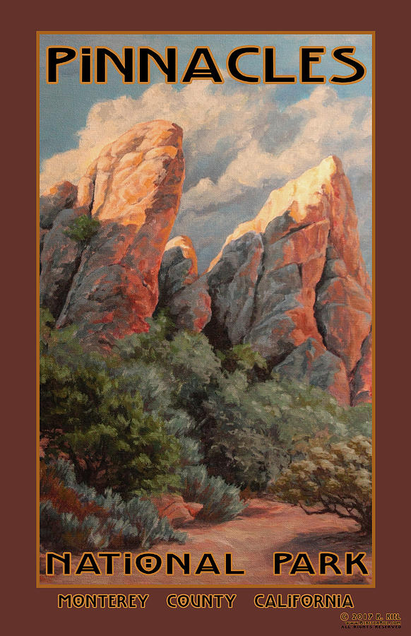 Wildlife Painting - Pinnacles National Park by Rebecca Riel
