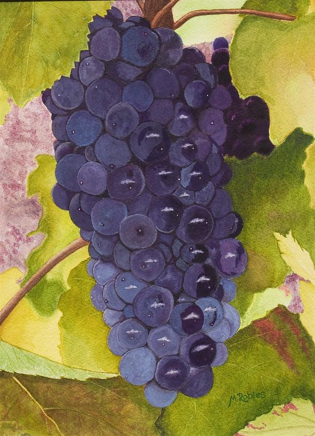 Grapes Painting - Pinot Noir Ready For Harvest by Mike Robles