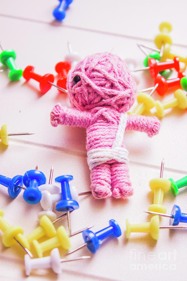 Halloween Photograph - Pins And Needles Mummy Voodoo Doll by Jorgo Photography - Wall Art Gallery