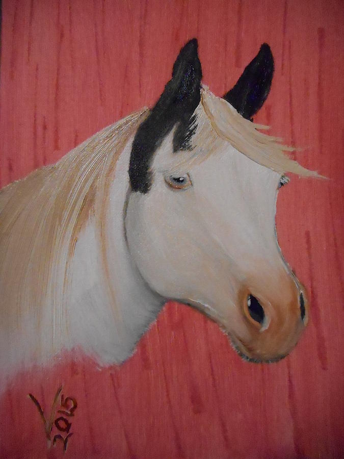 Oil Painting - Pinto Beauty by Valenteana J Chilsted
