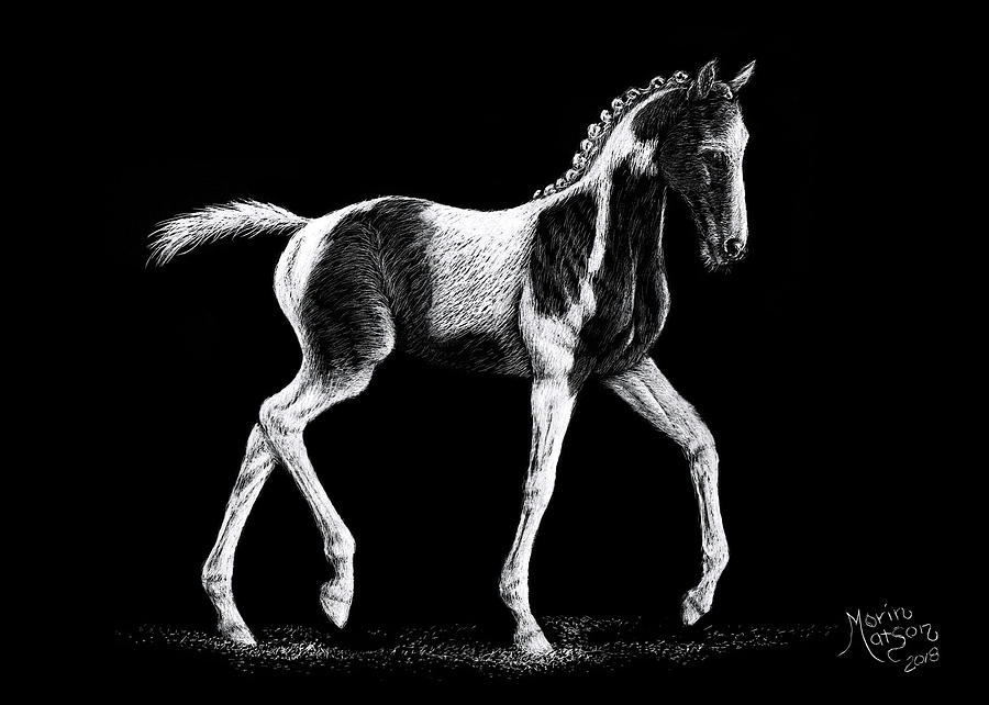 Pinto Foal by Monique Morin Matson