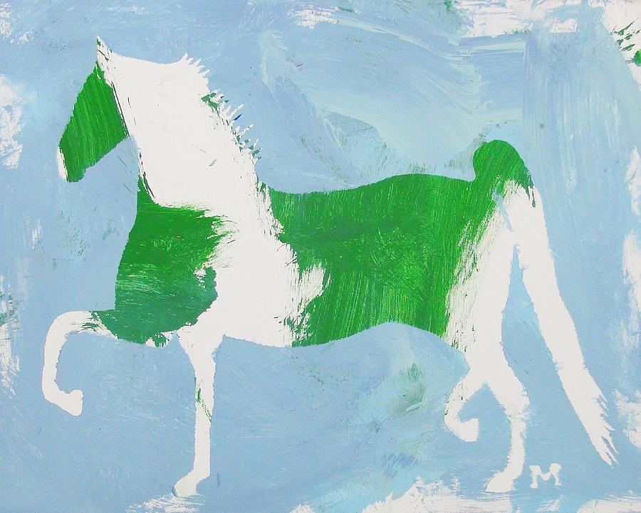 Horse Painting - Pinto Saddlebred by Candace Shrope