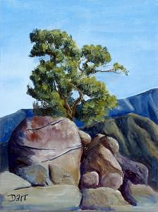 Plein Air Painting - Pinyon Crest by Darr Sandberg