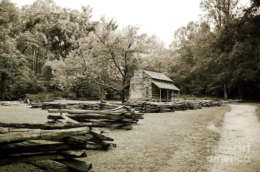 Cabin Photograph - Pioneers Cabin by Scott Pellegrin