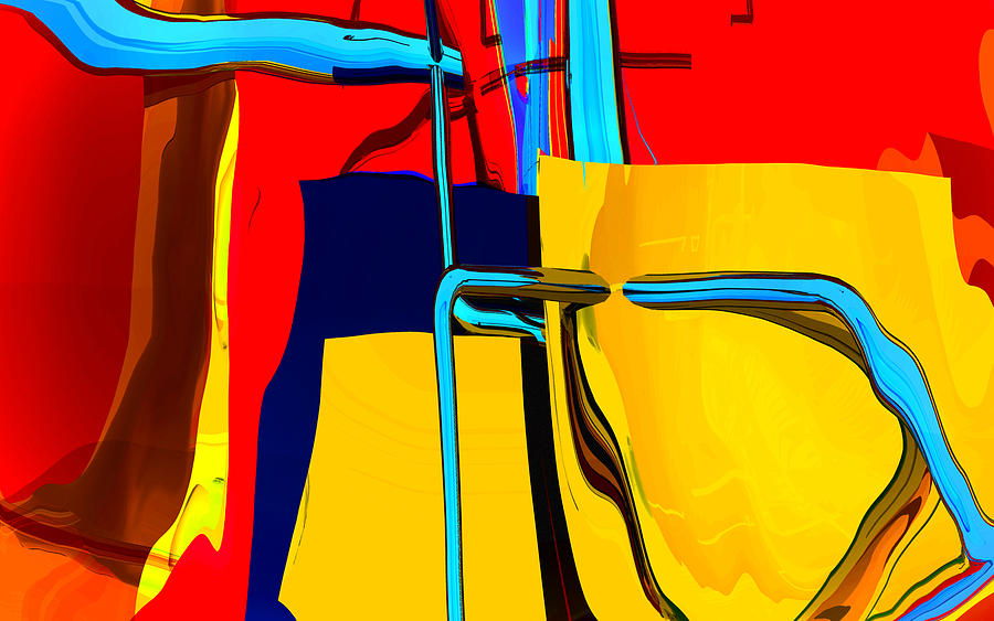 Abstract Digital Art - Pipe Dream by Richard Rizzo