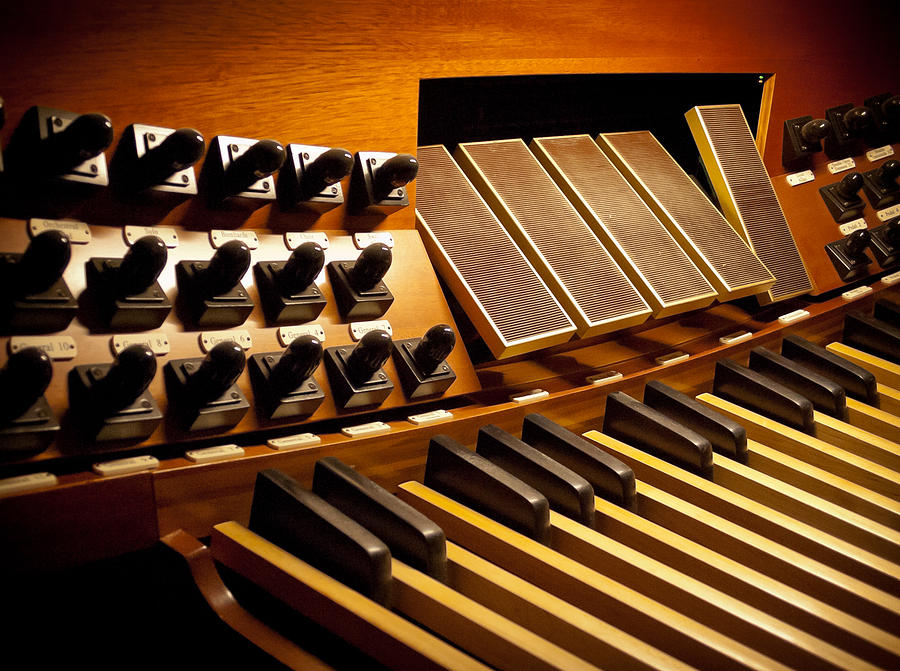 Pipe organ pedals by Jenny Setchell