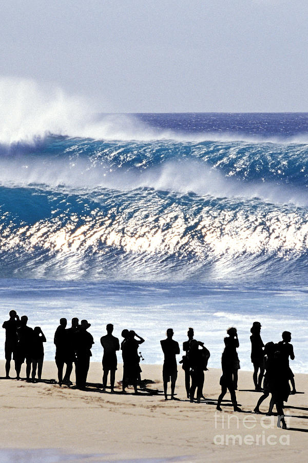 Big Waves Photograph - Pipeline Shadow Land - 2 Of 3 by Sean Davey