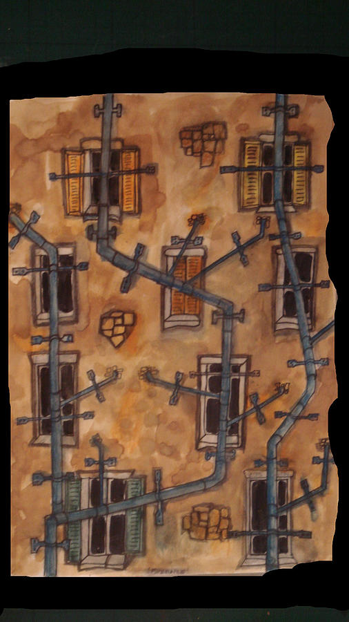 Plumbing Painting - Pipemare by Phil Austen