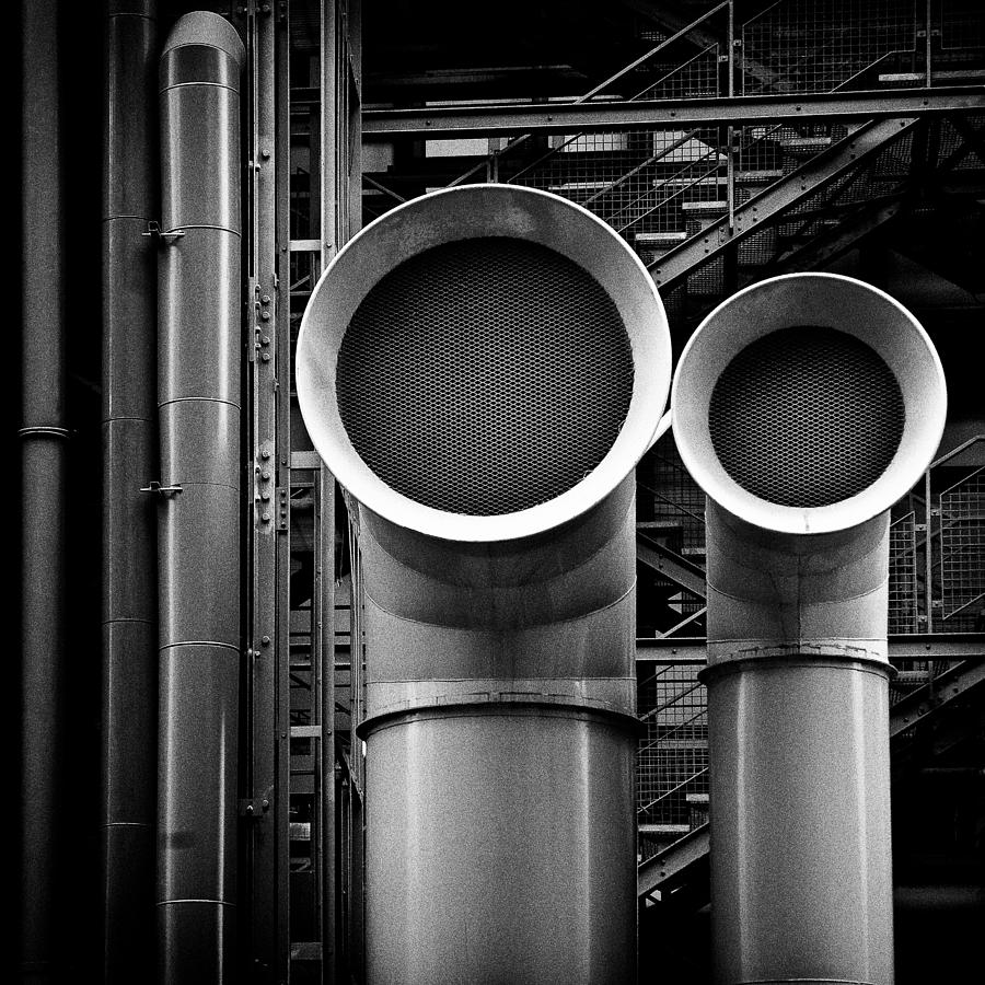 Industry Photograph - Pipes by Dave Bowman